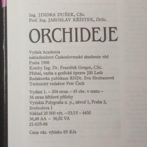 antikvární kniha Orchideje, 1986