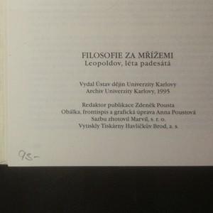 antikvární kniha Filosofie za mřížemi : Leopoldov, léta padesátá, 1995