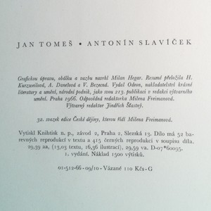 antikvární kniha Antonín Slavíček, 1966