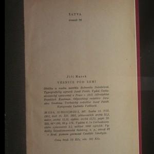 antikvární kniha Vesnice pod zemí, 1952