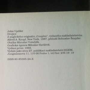antikvární kniha Dvojice, 1993