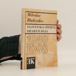 náhled knihy - Slovenská operná dramaturgia 1989-1998