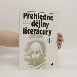 náhled knihy - Přehledné dějiny literatury. I