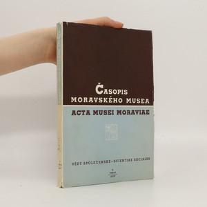 náhled knihy - Časopis Moravského musea v Brně