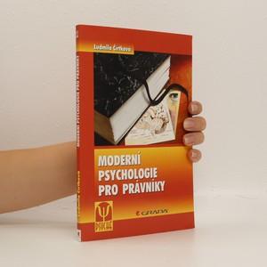 náhled knihy - Moderní psychologie pro právníky