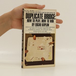 náhled knihy - Duplicate Bridge. How to Play, How to Win