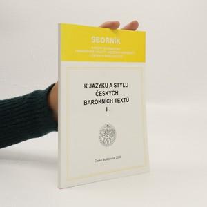 náhled knihy - K jazyku a stylu českých barokních textů. II