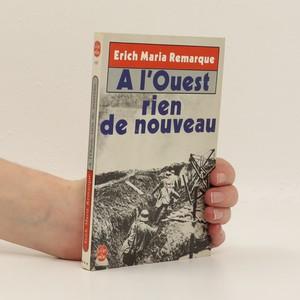náhled knihy - A l'ouest rien de nouveau. (francouzsky)