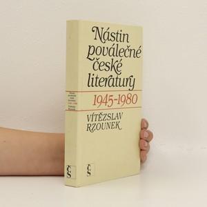 náhled knihy - Nástin poválečné české literatury 1945-1980