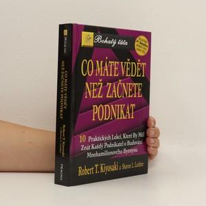náhled knihy - Co máte vědět než začnete podnikat