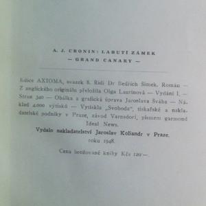 antikvární kniha Labutí zámek, 1948