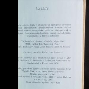 antikvární kniha Žalmy: ekumenický překlad, 1976