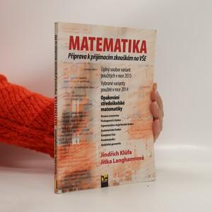 náhled knihy - Matematika : příprava k přijímacím zkouškám na VŠE